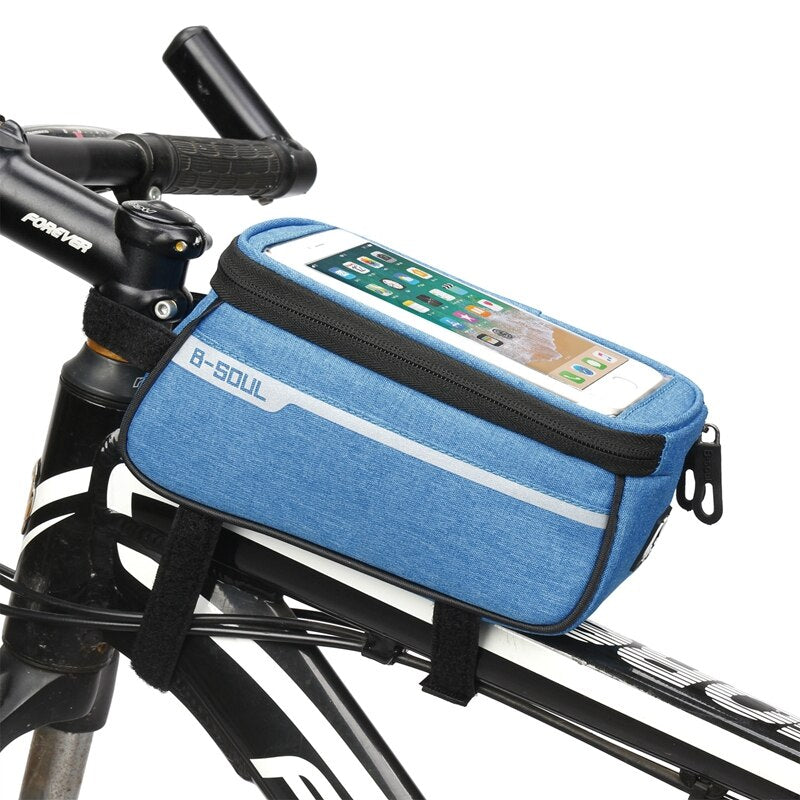 Bicycle Bike Bag Waterproof Frame Front Top Tube Bike Bagpack For  Mobile Phone Holder Mountain Cycling Bicycle Bags Accessories