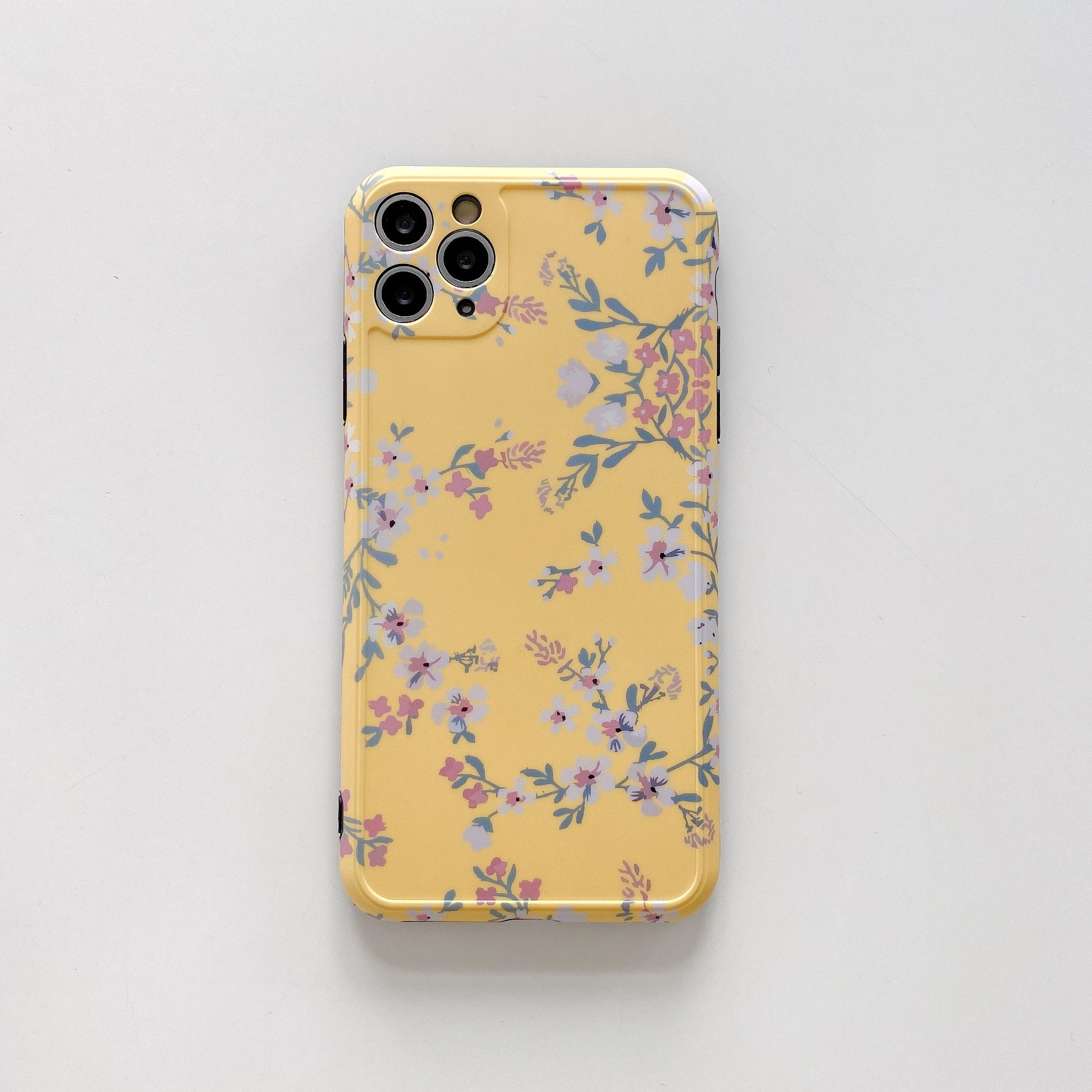 Vintage Flower For iPhone 11 Pro Max X XR XS Max Phone Case 7 8 Plus SE2020 Soft TPU Luxury Floral Back Cover Coque Funda