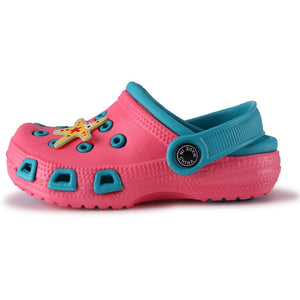 Children Mules Clogs Kids Summer Garden Shoes Girl Boy Beach Shoes Candy Color Hole Baby Shoes EUR24-35