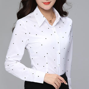 Fashion Blouses Womens Tops and Blouse White Autumn Loose Blouse Women Long Sleeve Blouse Woman Ladies Shirts Plus Size XXXL Top