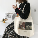 Women Canvas Shopping Bag Prado Museum Pictures Female Cotton Cloth Shoulder Bag Eco Handbag Tote Reusable Grocery Shopper Bags