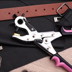 Leather Belt Revolving Puncher Eyelet Hole Hand Plier Craft Tools Strap Machine Sewing Puncher DIY Hand Tools Multi-Size