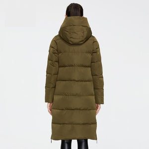 ICEbear 2020 New Winter Women Jacket High Quality Long Woman coat Hooded Female Parkas Stylish Women's Brand Clothing GWD19507I
