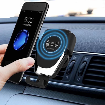 cozyrex,10W Qi Wireless Fast Charge Gravity Linkage Auto Lock Car Air Vent Holder Mount for iPhone Mobile Phone,CozyRex,Car Cradles & Mounts