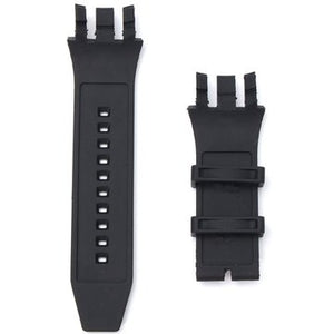 cozyrex,Black Replacement Soft Silicone Rubber Watch Band Strap Kit,CozyRex,Watch Strap & Strap Hoop Loop