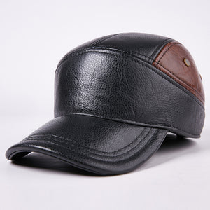 cozyrex,Men's Hat Cap Warm Ear Protection Leather Hat,CozyRex,