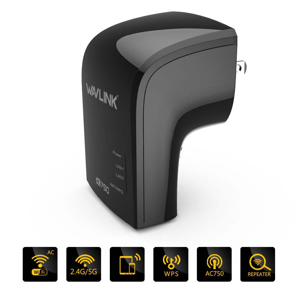 cozyrex,Wavlink 750Mbps Dual Band 3 in One Wifi Repeater Router Built-in Antenna UK/EU/US Plug,CozyRex,