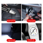 cozyrex,Portable Car And Home Wireless Vacuum Cleaner - Support Tire Pressure Measurement LED Lighting Inflation,CozyRex,