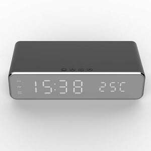 cozyrex,Electric LED 12/24H Alarm Clock With Phone Wireless Charger - Desktop Digital Display  Clock,CozyRex,