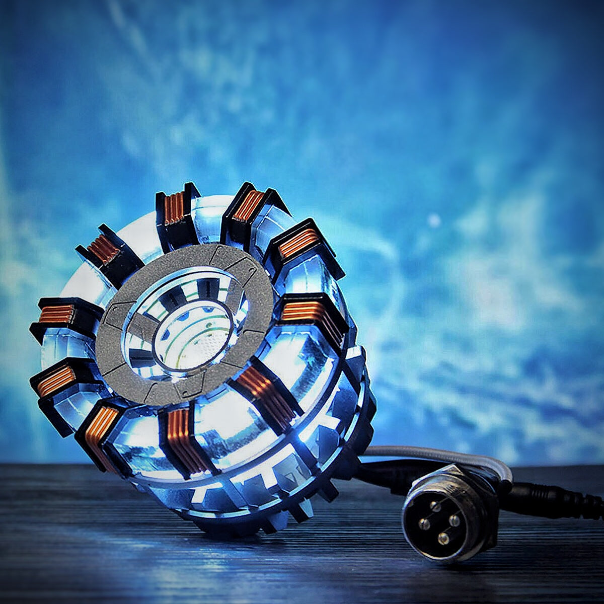 cozyrex,Arc Reactor DIY Model MK2 Led Light Mark Chest Tony Heart Lamp Light DIY Model Science Toy,CozyRex,