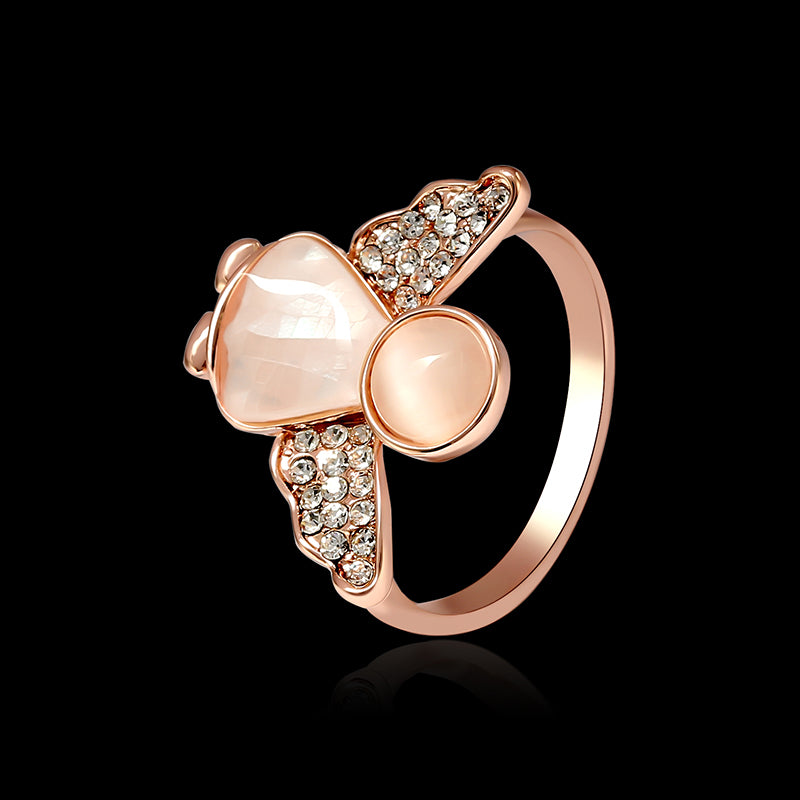 cozyrex,Sweet Angel Opal Ring Clothing Accessories Rose Gold Plated Anallergic Jewelry for Women,CozyRex,