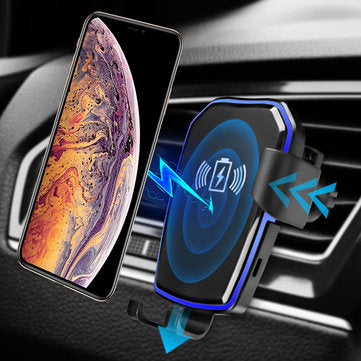 cozyrex,Universal Qi Wireless Fast Charging Auto Lock Car Air Phone Holder,CozyRex,Car Cradles & Mounts