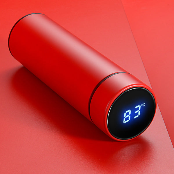 cozyrex,500ml Vacuum Thermos LCD Temperature Display - Water Bottle Stainless Steel - Double Wall Insulated Cup,CozyRex,