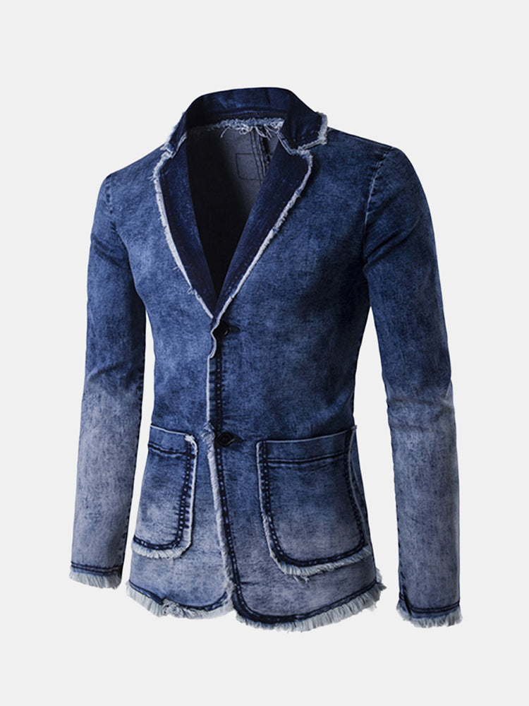 Fashion Gradient Casual Business Blue Suits