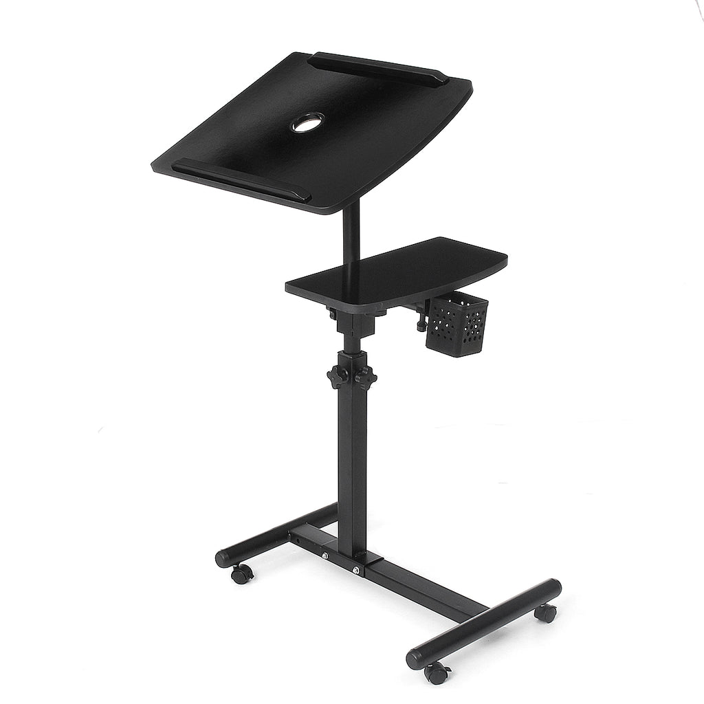 Double lifting 360 degree rotating lazy laptop Stand cooling floor removable bedside table land table