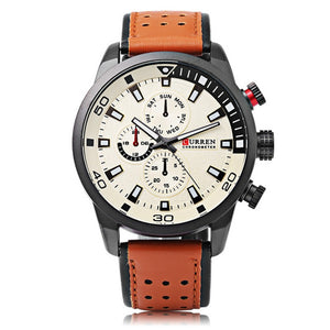 cozyrex,CURREN 8250 Luxury Leather Watch Band Casual Men Watch,CozyRex,