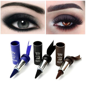 cozyrex,Music Flower Eyeliner Stick - Black Gel Pencil Blue Water proof,CozyRex,