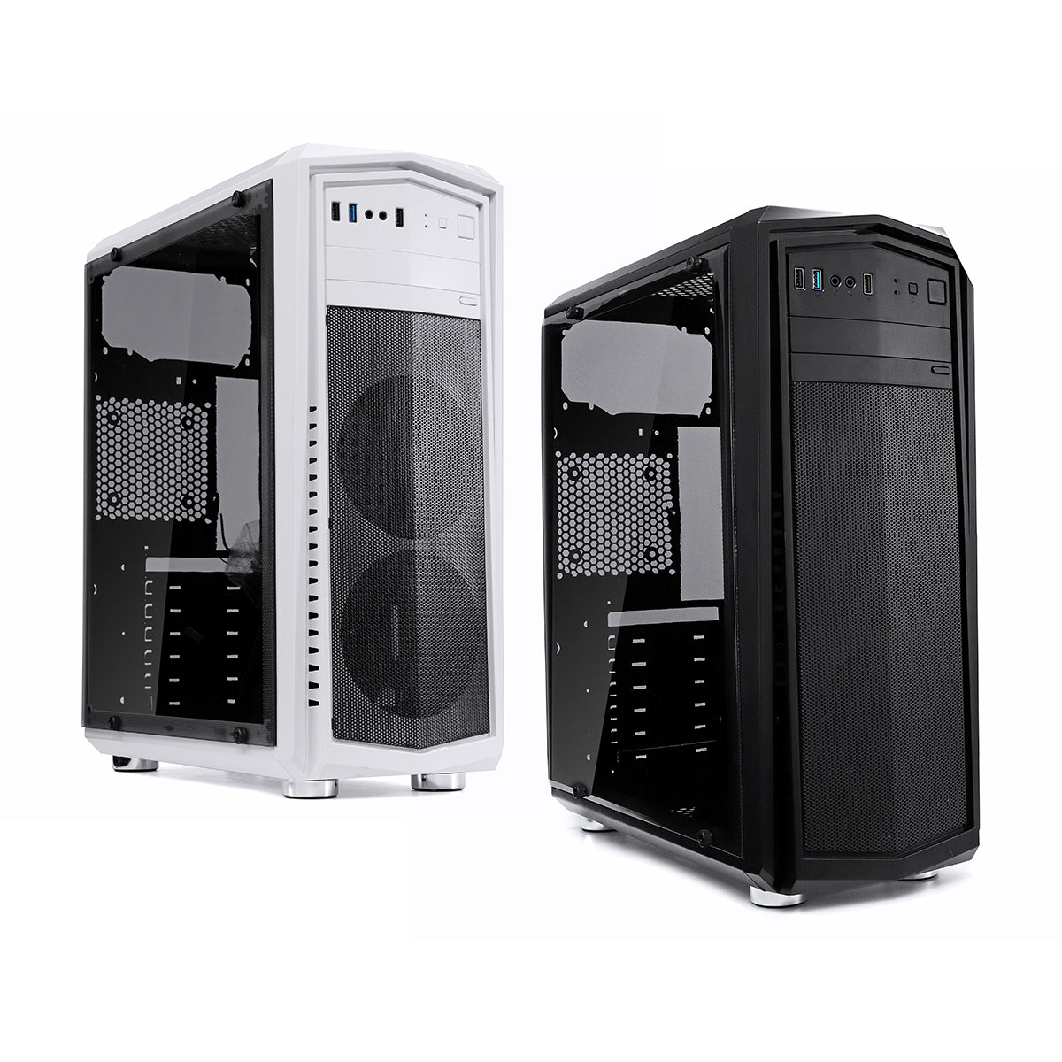 cozyrex,Transparent Side Panel ATX PC Case Desktop Computer Case for ATX Micro-ATX Mini-ITX Motherboard,CozyRex,