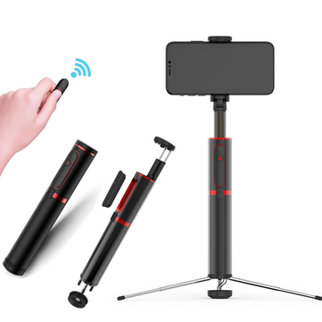 cozyrex,Bakeey All in One Hidden Design Aluminum Extendable Selfie Stick with Tripod Non Skid Monopod,CozyRex,Selfie Sticks & Tripods