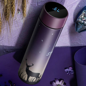 450ML Smart Mug Stainless Steel Water Thermal Bottle With LCD Touch Screen Temperature Display Vacuum Cup
