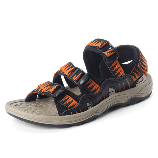 Men Breathable Knitted Comfy Outdoor Hook Loop Sandals