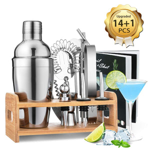 cozyrex,Cocktail  Shaker Bartender Bar Set Stainless Steel Beverage Mixer Bar Bartender Kit Bar Tool,CozyRex,