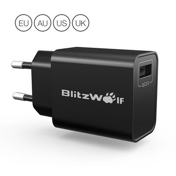 cozyrex,BlitzWolf BW-S9 18W USB Charger EU US UK AU Adapter with Power3S Tech,CozyRex,Chargers