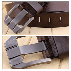 cozyrex,KCASA Genuine Leather Men's Belt Casual Waistband Waist Strap Smooth Pin,CozyRex,