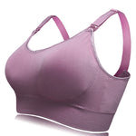 cozyrex,Soft Cotton Front Button Wireless Nursing Bras,CozyRex,
