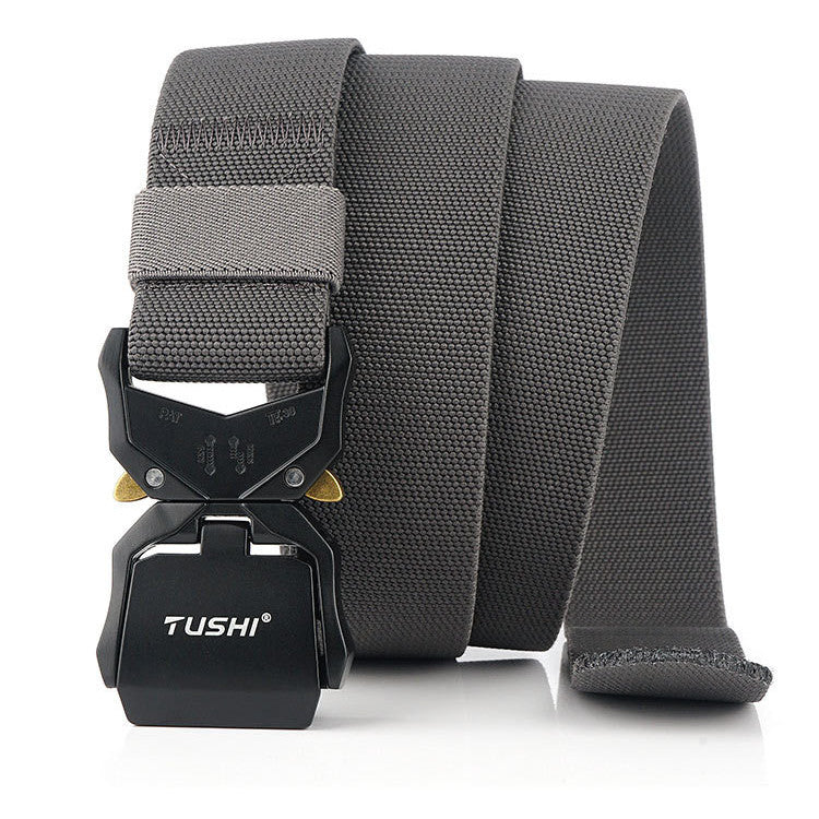 cozyrex,TUSHI NS6 125cm 3.8cm Quick Release Nylon Tactical Belts Business Belt,CozyRex,