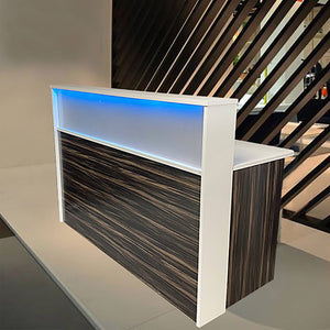 Malibu Frosted reception Desk Los Angeles