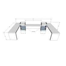 Alpha Deluxe Reception Desk Workstation