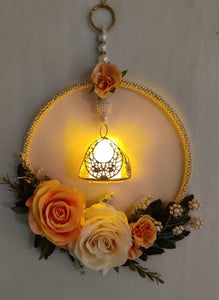 Beautiful Floral Centre hanging with Electric Piece Tea Light Holder