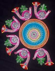 Colourful Shahnai Rangoli