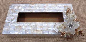 Gorgeous Mother of Pearl Tissue Box Holder