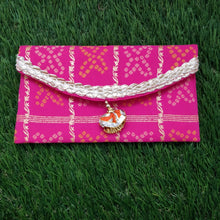 Load image into Gallery viewer, Traditional Bandhej Envelope (Red / Yellow / Rani-Pink)