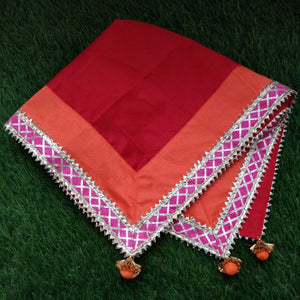 Beautiful Red Chowki Cover