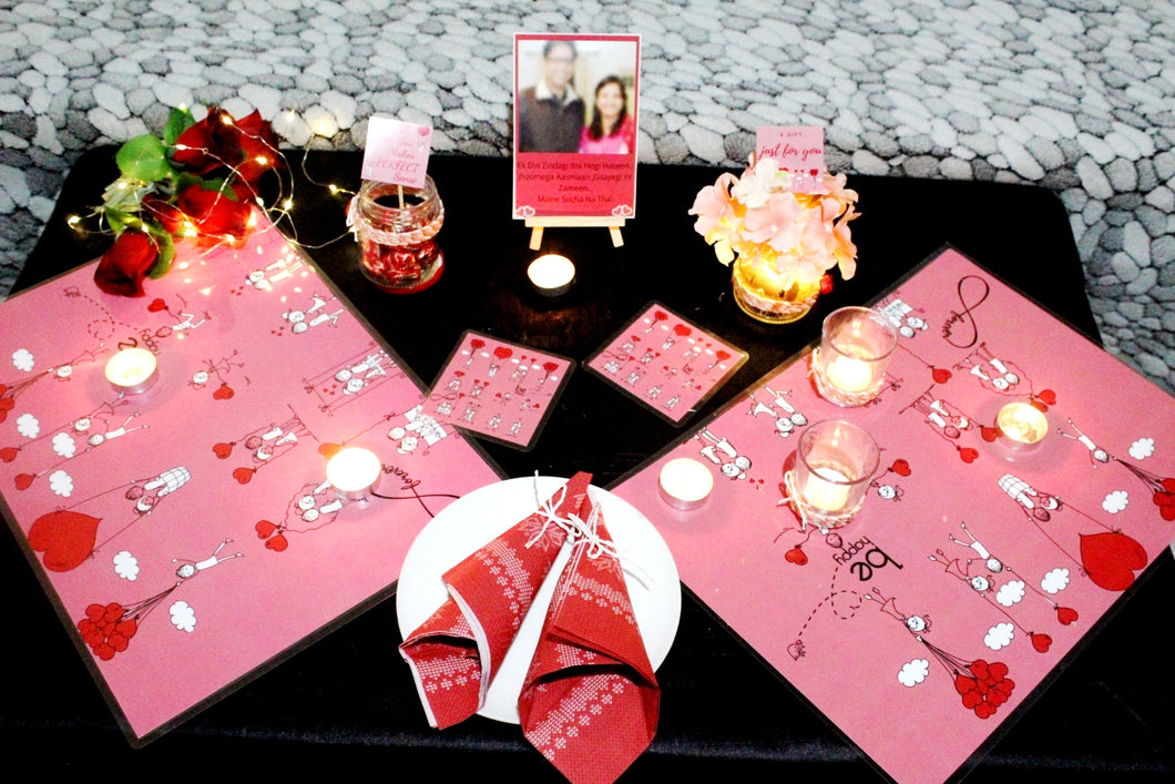 Valentine Dinner Date Set up | Romantic theme