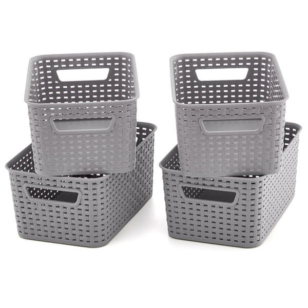 Plastic Knit Baskets - 11x7.3x5 inch