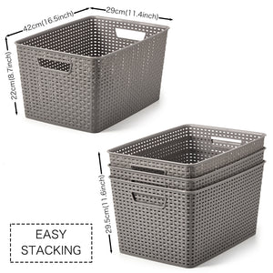 Plastic Organizer Knit Baskets - Extra Large