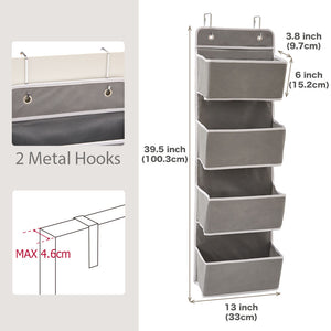 Over The Door Organizer with 4 Pocket- Set of 2