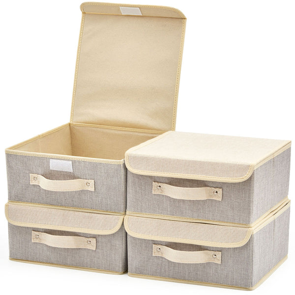 Fabric Storage Basket Bin with Lid