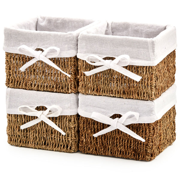 Seagrass Wicker Storage Nest Baskets - Set of 4