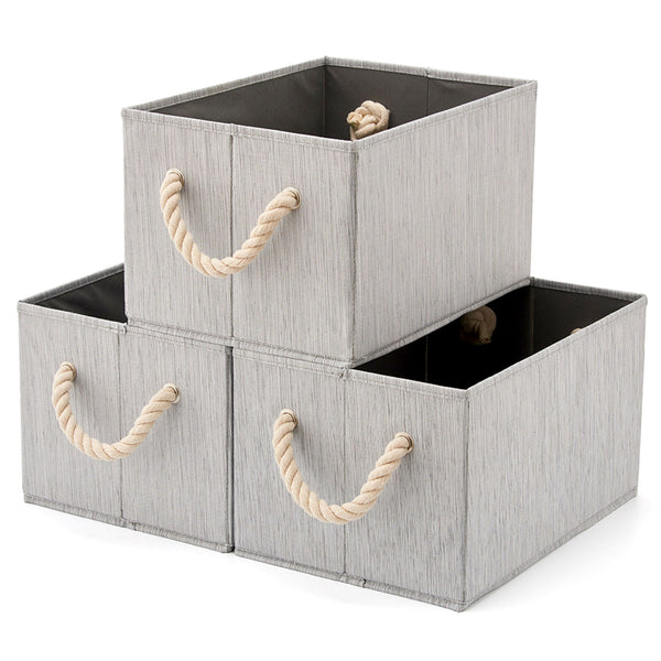 Bamboo Large Fabric Storage Bins