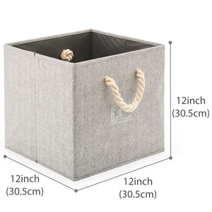 Foldable Fabric Storage Cube - Gray