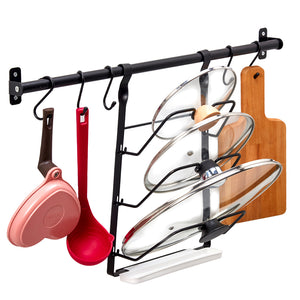 Kitchen Hanging Pot Lid Organizer Holder Rack