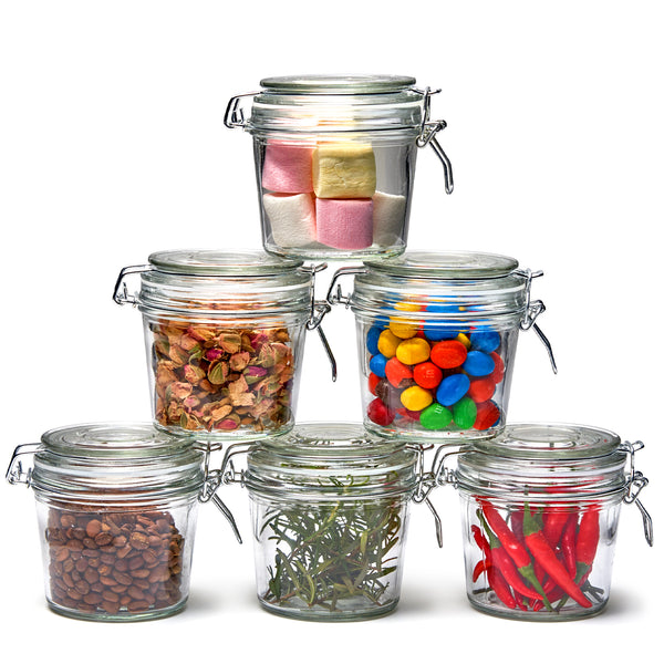 Clear Canister Storage Container Bottles - 350ML