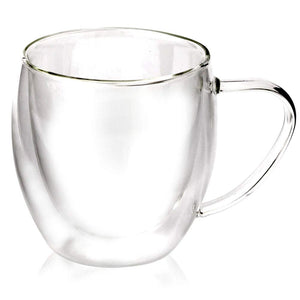 Double Wall Clear Glass Mugs