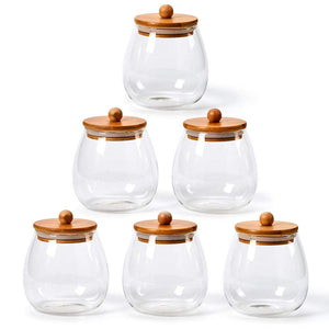 Round Glass Jar Canister Set