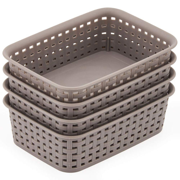 Woven Plastic Basket Trays
